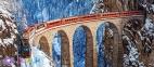600 ел. - Віадук Ландвассер, Швейцарські Альпи / Castorland 0