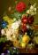 1500 эл. - Жан Франсуа Ван Даль. Натюрморт с цветами / Trefl 0
