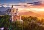 500 эл. - Замок Нойшванштайн на рассвете, Германия / Castorland 0