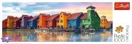 1000 ел. Panorama - Будиночки на набережній Гронінгена, Нідерланди / Trefl 0