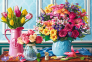 1500 эл. - Цветы в вазах / MGL / Trefl 0