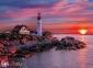 500 ел. High Quality Collection - Захід сонця над маяком, Портленд, США / Clementoni 0