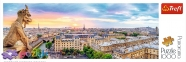 1000 ел. Panorama - Вигляд з Катедри Нотр-Дам, Париж / Trefl 0