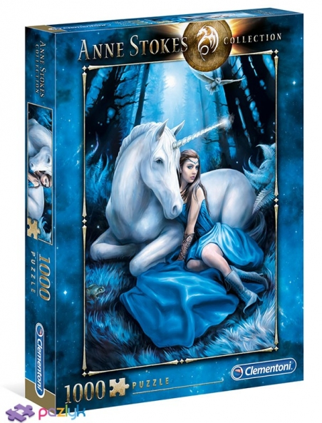 1000 ел. Anne Stokes collection - Блакитний місяць / Clementoni
