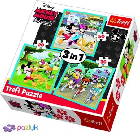 3 в 1 (20,36,50) ел. - Мишка Міккі з друзями / Disney Standard Characters / Trefl