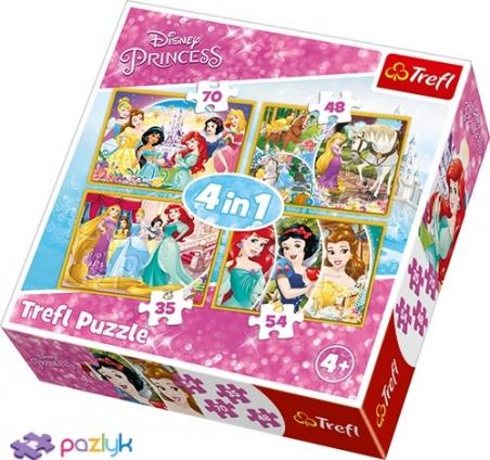 4 в 1 (35,48,54,70) ел. - Радісний день Принцес / Disney Princess / Trefl