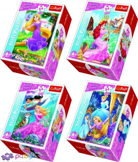 54 ел. Міні - Пригоди у світі Принцес / Disney Princess / Trefl