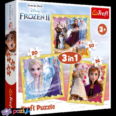 3 в 1 (20,36,50) эл. - Холодное сердце-2. Сила Анны и Эльзы / Disney Frozen 2 / Trefl