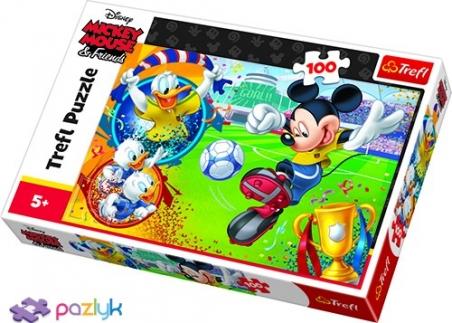 100 ел. - Мишка Міккі на футбольному полі / Disney Standard Characters / Trefl