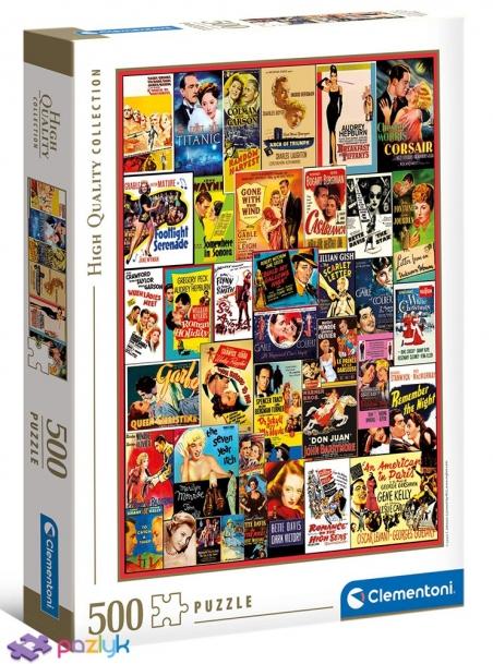 500 эл. High Quality Collection - Классический романс. Коллаж / Clementoni