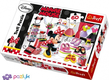 60 эл. - Безумный шопинг Мышки Минни / Disney Minnie / Trefl