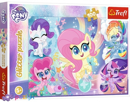 100 эл. Glitter - Блестящие Пони / Hasbro, My Little Pony / Trefl