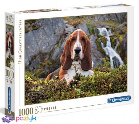 1000 эл. High Quality Collection - Собака у водопада / Clementoni