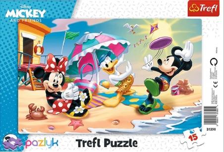 15 ел. Рамкові - Мишка Міккі та друзі. Веселі ігри на пляжі / Disney Standard Characters / Trefl