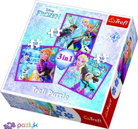 3 в 1 (20,36,50) ел. - Крижане Серце. Зимова магія / Disney Frozen / Trefl