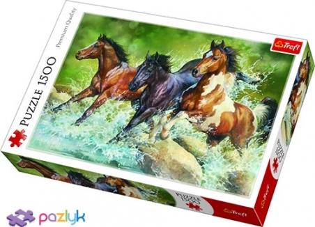 1500 эл. - Трое диких лошадей / Trefl