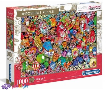 1000 эл. Impossible - Christmas Collection. Елочные украшения / Clementoni