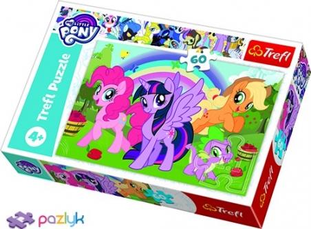 60 ел. - Мої Маленькі Поні. Веселкова дружба / Hasbro, My Little Pony / Trefl