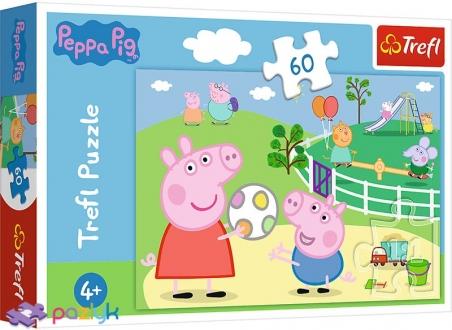 60 эл. - Свинка Пеппа. Забава с друзьями / Peppa Pig / Trefl