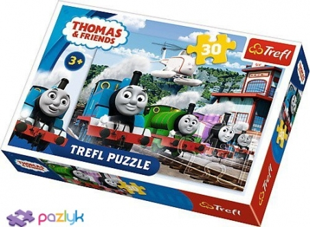 30 эл. - Гонки на путях / Thomas and Friends / Trefl