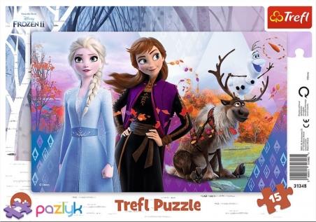 15 эл. Рамочные - Магический мир Анны и Эльзы / Disney Frozen 2 / Trefl