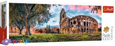 1000 ел. Panorama - Колізей на світанку, Рим / Trefl