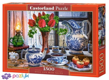 1500 эл. - Натюрморт с тюльпанами / Castorland