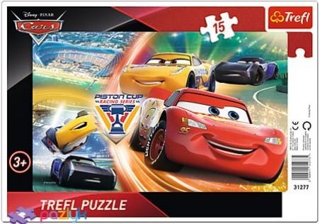 15 эл. Рамочные - Тачки-3. Борьба за победу / Disney Cars 3 / Trefl