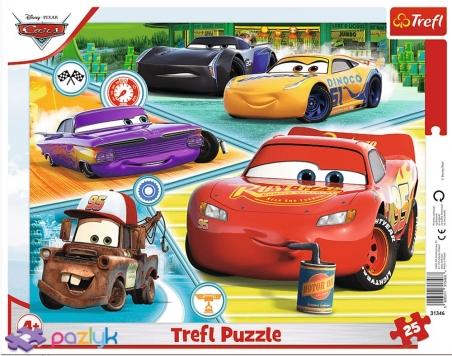 25 эл. Рамочные - Тачки-3. Слаженная команда / Disney Cars 3  / Trefl