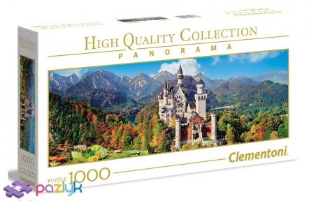 1000 эл. Panorama High Quality Collection - Замок Нойшванштайн, Германия / Clementoni