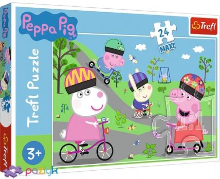 24 эл. Макси - Активный день Свинки Пеппы / Peppa Pig / Trefl