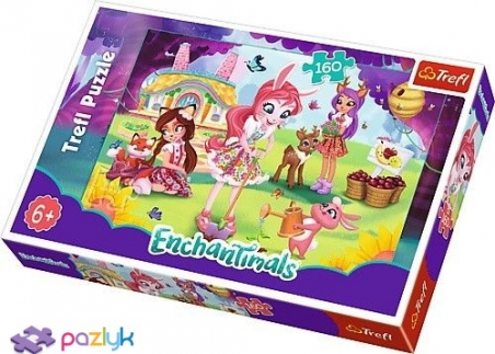 160 эл. - Энчантималс. Бри, Данесса и Фелисити в саду / Mattel Enchantimals / Trefl