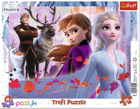 25 ел. Рамкові - Крижане серце-2. Пригоди у країні льоду / Disney Frozen 2  / Trefl