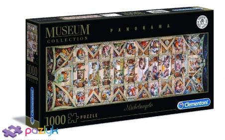 1000 ел. Panorama: Музейна Колекція - Мікеланджело Буонарроті. Склепіння Сикстинської Капели / Clementoni