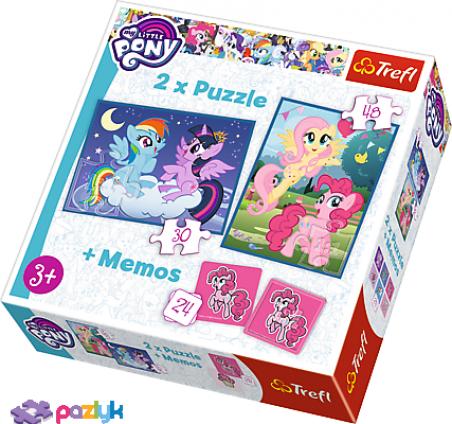 2 в 1 (30,48) эл.+ Мемос – Мои маленькие Пони. Дружба - это магия / Hasbro, My Little Pony / Trefl
