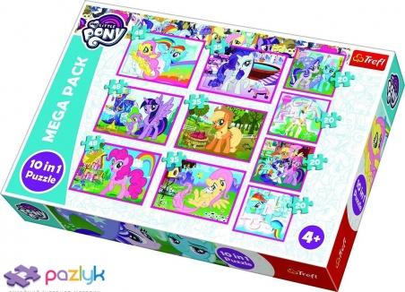 10 в 1 (4х20,3х35,3х48) ел. - Магічний світ маленьких Поні / Hasbro, My Little Pony / Trefl