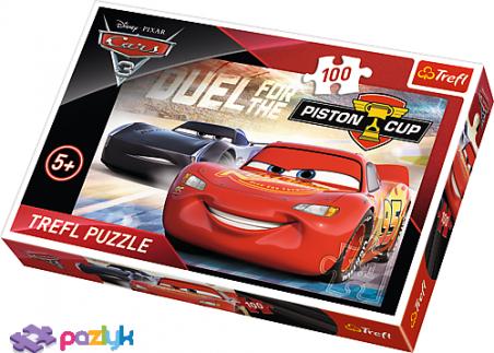 100 эл. -  Тачки 3. Кубок Большого Поршня / Disney Cars 3 / Trefl