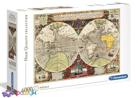 6000 ел. High Quality Collection - Антична морська карта / Clementoni