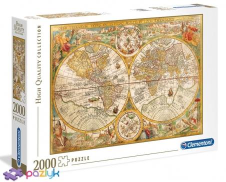 2000 ел. High Quality Collection - Петер Планціус. Старовинна карта світу / Clementoni