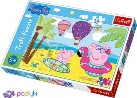 24 ел. Максі - Канікули Свинки Пеппи / Peppa Pig / Trefl