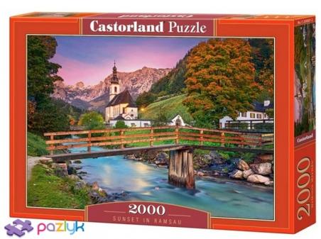 2000 эл. - Закат в Рамзау, Германия / Castorland