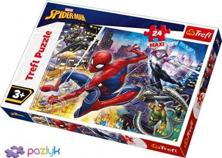 24 эл. Макси - Бесстрашный Спайдермен / Disney Marvel Spiderman / Trefl