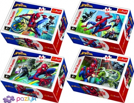54 эл. Мини - Время Спайдермена / Disney Marvel Spiderman / Trefl
