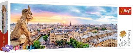 1000 ел. Panorama - Вигляд з Катедри Нотр-Дам, Париж / Trefl
