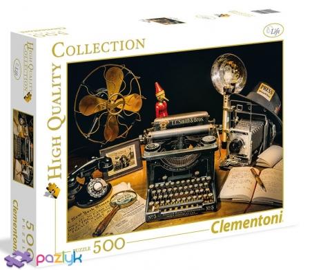 500 ел. High Quality Collection - Старовинна друкарська машинка / Clementoni