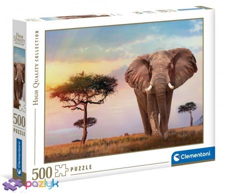 500 ел. High Quality Collection - Захід сонця над Африкою / Clementoni