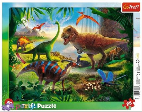 25 эл. Рамочные - Динозавры / Trefl