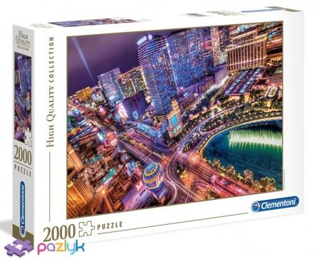 2000 эл. High Quality Collection - Вечерний Лас-Вегас / Clementoni
