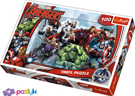 100 эл. - Мстители. В атаку / Disney Marvel The Avengers / Trefl
