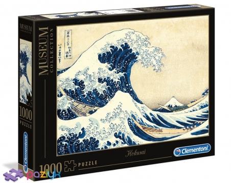 1000 эл. Музейная Коллекция - Кацуcика Хокусай. Большая волна в Канагаве / Clementoni